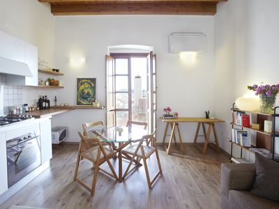 Photo for LAST MINUTE JULY Charming bright studio apartment in Cagliari Historic city
