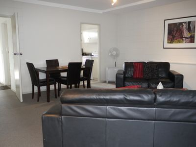 Photo for 2brm City Apartment, Free wifi, linen, thermally heated pool, hot pools, gym