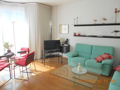 Photo for Elegant bright apartment in the best area of Barcelona