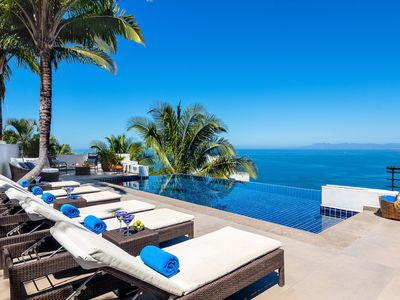 Photo for OCEAN VIEWS - LUXURY AND PRIVATE HILLSIDE VILLA 6 BD