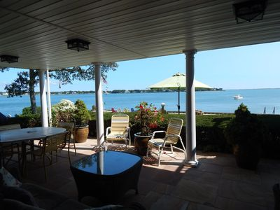 Photo for Waterfront! Spectacular Panoramic Views-Open BayFront-WetBar+HotTub