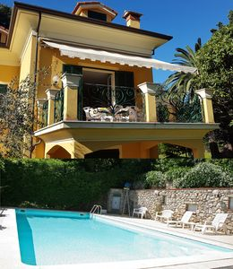 Photo for APARTMENT IN VILLA 50 MT FROM BEACH, GOLF, LARGE TERRACE, GARDEN + POOL
