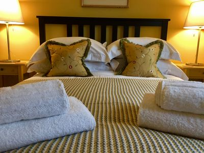 """Master bedroom... """"lovely bedding"""" Chris May 2017"""