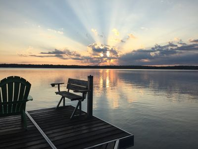 Sunrise view from the dock!
