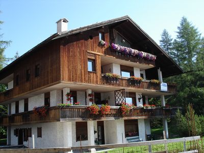 Photo for Apartment in a villa not far from the Falzarego and Giau