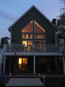 Photo for Modern dog-friendly home on Webster Lake with water access & spectacular views