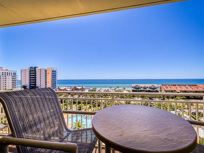 Photo for Elegant condo w/ water views, private balcony, shared fitness center and grills!