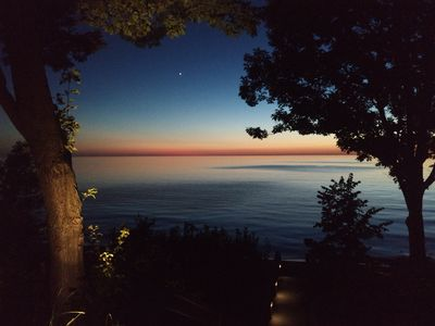 Amazing July 2018 sunset with the planet Venus  from the Deck
