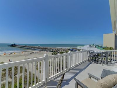 Photo for Top Floor Oceanfront Condo - View of Folly Beach Pier!