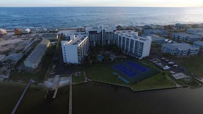 Best of Both Worlds! Located between fresh water Little Lagoon and the Gulf of Mexico!