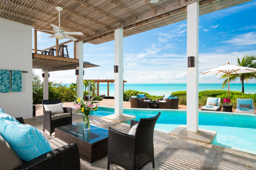 Shaded Patio With Gorgeous Views To The Beach And Ocean