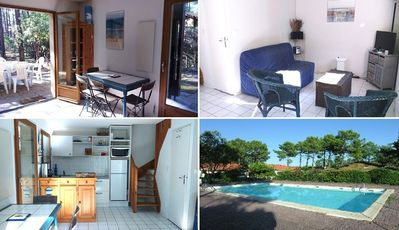 Photo for Semi detached house, 3 bedrooms, 6 people, residence with collective pool, Lacanau ocean
