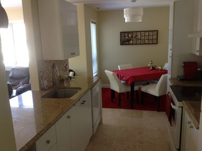 Kitchen and dining are