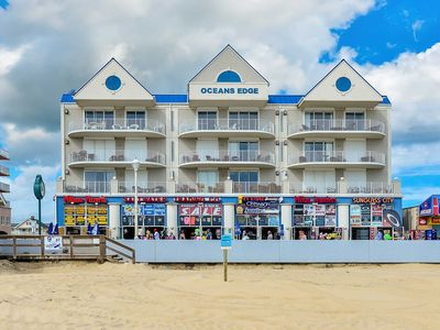 Photo for Ocean's Edge 401-Oceanfront 9th St, Free WiFi, Elev, W/D, AC