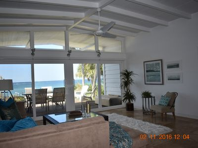 Photo for Luxury beach front home with guest house included.