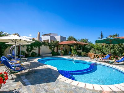 Photo for This 3-bedroom villa for up to 6 guests is located in Heraklion and has a private swimming pool, air