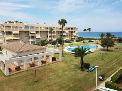 Photo for Beautiful and cheerful apartment  with communal pool in Denia, on the Costa Blanca, Spain for 6 persons