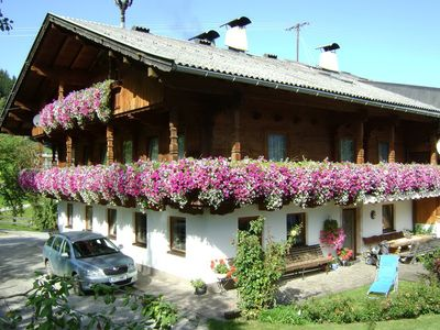 Photo for Holiday apartment with view of the Zillertal Alps