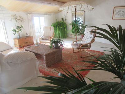 Photo for Old spacious village house full of sunlight, wide views of the Luberon
