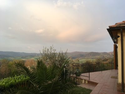 Photo for Breathtaking views of from this charming family home in the heart of Tuscany