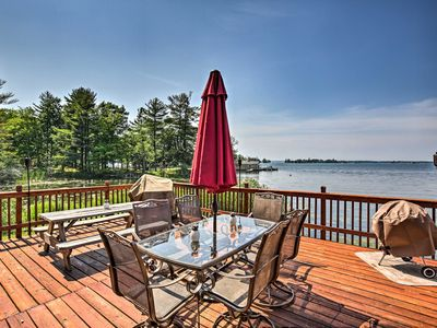 Photo for NEW-Secluded 1000 Islands Riverfront Cabin w/Views