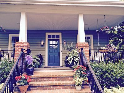 Photo for Back yard and patio for outdoor games and cookouts. Ample parking. Walking distance to neighborhood restaurants, vibrant City Dock, and Naval Academy. Lots of charm plus all the modern conveniences.