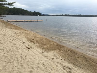 Photo for Waterfront Lake Winnipesaukee cottages on private sandy beach sleeps 12 W/dock