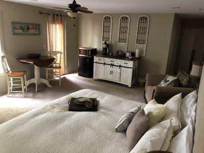 Photo for Spacious Luxury Suite & Patio, Ravens Off Main Street Starry Nights- Walk Town