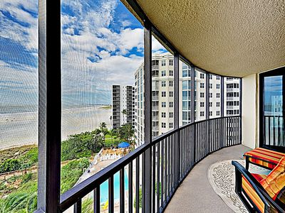 Balcony - Welcome to Fort Myers Beach! This condo is professionally managed by TurnKey Vacation Rentals.