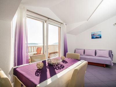 Photo for Lovely ❤ sea view apt for 2+2, on the beach, Seget