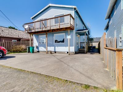 Photo for Dog-friendly, oceanview home w/ private hot tub - steps from the beach!