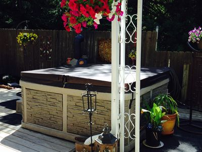 Photo for SPA/HOT TUB,SAUNA,HEATED POOL/DECK MAY-SEPT & JACUZZI JET TUB, PRIVATE PARKING