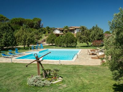 Photo for Villa with private pool and huge garden on the west coast 7 sleeps, WI FI