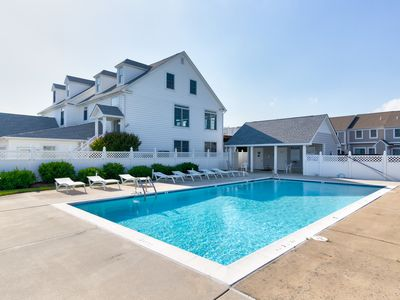 Photo for NEW LISTING! Bayfront home w/ decks & a shared pool - walk to beach!