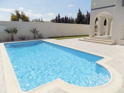 Photo for New luxury villa, private pool, flower garden, large garage, barbecue