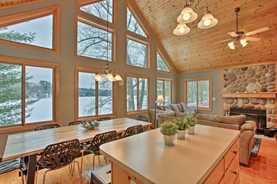 Dive headfirst into lakefront bliss at this 4-bedroom, 2-bath Fife Lake cottage!