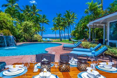 Poolside Outdoor Covered Dining Area