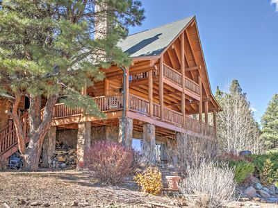 Photo for Flagstaff Cabin w/Decks, Alpine Views & Pool Table