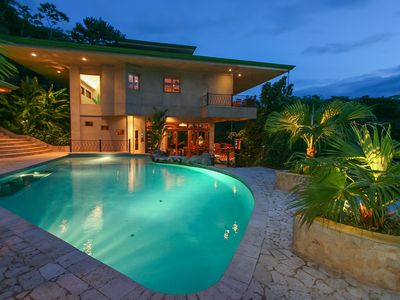Photo for LUXURY 6 BR Family Estate in Manuel Antonio. Rainforest. Huge Pool. AC. Private!