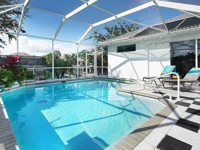Photo for SWFL Rentals - Villa Waterside - Private Pool Home on Gulf Access Canal