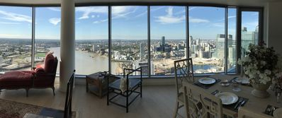 Photo for Brand New Penthouse Apartment with Canary Wharf Skyline Pano View