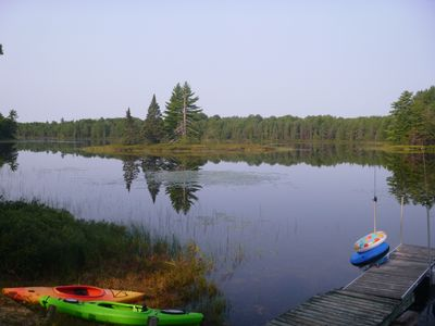 Photo for Book now for spring fishing & summer adventures! Quiet lake, Hiawatha Forest