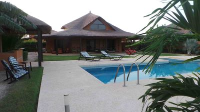 Photo for NIANING, Villa with private pool, lagoon view, 400m beach, sleeps 6