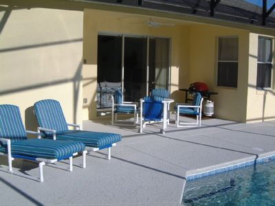 Luxury Pool Seating and BBQ