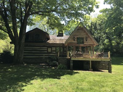 HISTORIC & MODERN LOG CABIN on 55 ACRE HORSE FARM/WEDDING VENUE