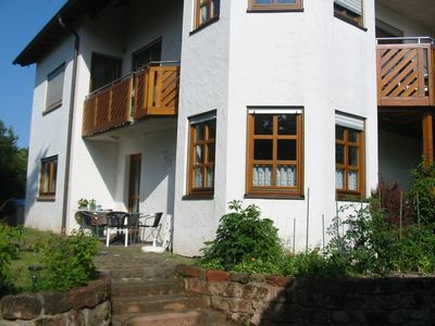 Photo for Roomy 3-star vacation apartment on the edge of town w/ view of the Burg Trifel