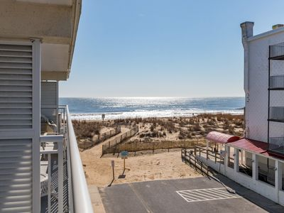 Photo for SIDE VIEW UNIT IN AN OCEANFRONT BUILDING