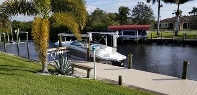 Photo for Bonjour! Bring your boat waterfront home with dock and pool minutes to harbour