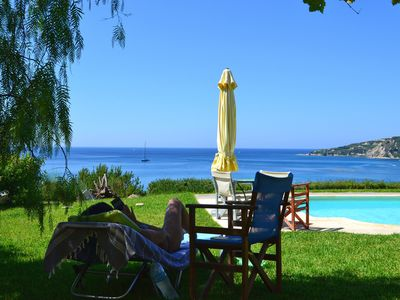 Photo for Kefalonia villas: cute 4 bedroom villa with swimming pool, stunning sea view