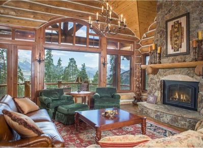 Warm by the gas fireplace or watch something on the flat screen TV in the living